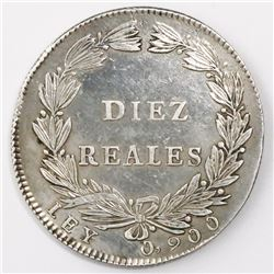 Bogota, Colombia, 10 reales, 1847.
