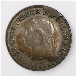 Medellin, Colombia, 10 centavos, 1885, 0.500/0.835 fineness