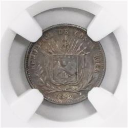 Costa Rica, 5 centavos, 1892, HEATON-BIRMm, encapsulated NGC MS 62, ex-Richard Stuart (designated on