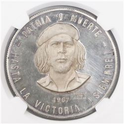 Cuba (struck in Mexico), proof 1 peso, 1967-1970, Ernesto Che Guevara, encapsulated NGC PF 64 Ultra