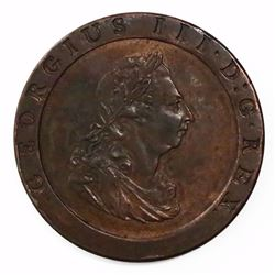 "London, England (Soho mint), copper ""cartwheel"" penny,"" George III, 1797."