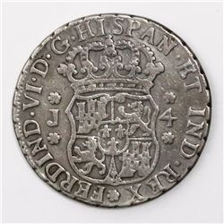 Guatemala, pillar 4 reales, Ferdinand VI, 1757J, ex-Richard Stuart.