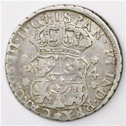 Guatemala, pillar 4 reales, Charles III, 1771P, ex-Richard Stuart.