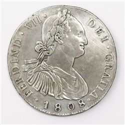 Guatemala, bust 8 reales, Ferdinand VII (bust of Charles IV), 1808M, ex-Richard Stuart.