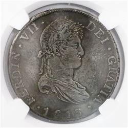 Guatemala, bust 8 reales, Ferdinand VII, 1813M, encapsulated NGC AU 50, ex-Richard Stuart (designate