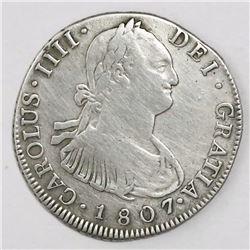 Guatemala, bust 4 reales, Charles IV, 1807M, ex-Richard Stuart.