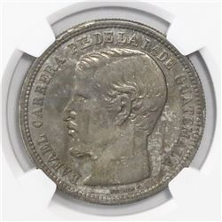 Guatemala, 1 peso, 1862R, encapsulated NGC AU 55, ex-Richard Stuart (designated on tag).