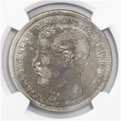Guatemala, 1 peso, 1864R, dot after date, encapsulated NGC XF 45, ex-Richard Stuart (designated on t