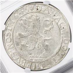 "Zwolle, United Netherlands, ""lion"" daalder, 1646, encapsulated NGC AU 55."