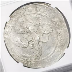 "Zwolle, United Netherlands, ""lion"" daalder, 1649, encapsulated NGC AU 55."