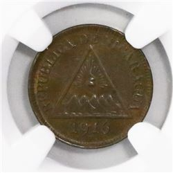 Nicaragua (Heaton mint), bronze 1/2 centavo, 1916-H, encapsulated NGC MS 62 BN, ex-Richard Stuart.