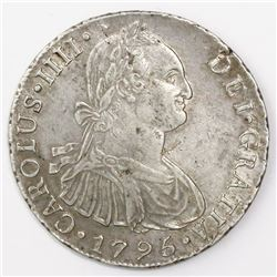 Lima, Peru, bust 8 reales, Charles IV, 1795IJ.