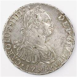 Lima, Peru, bust 8 reales, Charles IV, 1795IJ.