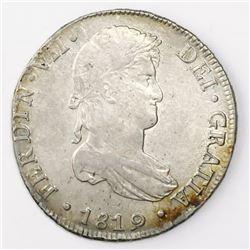 Lima, Peru, bust 8 reales, Ferdinand VII, 1819JP.