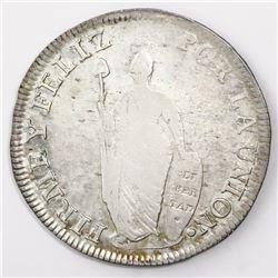 Lima, Peru, 8 reales, 1830JM, ex-Almanzar.