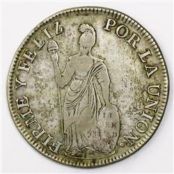 Cuzco, Peru, 4 reales, 1836B, ex-Almanzar.