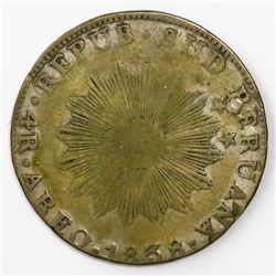 Arequipa, Peru (Republic of South Peru), 4 reales, 1838MV, ex-Almanzar.