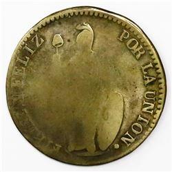 Pasco, Peru, 4 reales, 1844M, ex-Almanzar.