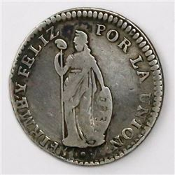 Lima, Peru (State of North Peru), 1 real, 1838/7MB, very rare.