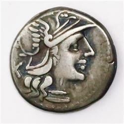 Roman, Republic, AR denarius, A. Spurilius, 139 BC.