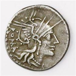 Roman Republic, AR denarius, M. Tullius, 119 BC.
