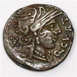 Roman Republic, Ar denarius, Q Curtius & M Junius Silanus, 116-115 BC.