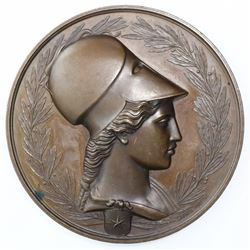 Chile, large bronze medal, International Exposition, 1875, by Dubois.