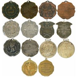 Lot of seven Panama medals, 1913-31, sports awards, ex-Richard Stuart.