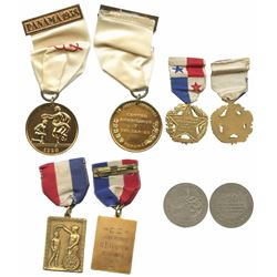 Lot of four Panama medals, 1922-38, sports, ex-Richard Stuart.