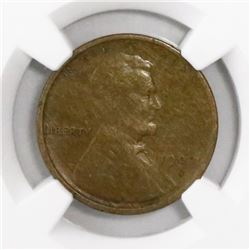 USA (San Francisco mint), copper cent Lincoln, 1909-S, encapsulated VF 25 BN.