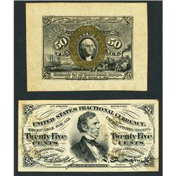 Lot of two USA (Washington, D.C.), fractional specimen notes, 3-3-1863, uniface.