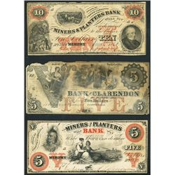Large lot of 21 North Carolina notes, 1855-63.