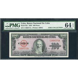 Cuba, Banco Nacional de Cuba, 100 pesos, 1958, certified PMG Gem UNC 64 EPQ, ex-Ortiz.