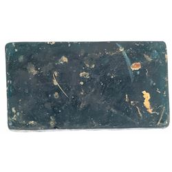 Rectangular blue-green glass trade ingot from the Hindostan (1803).