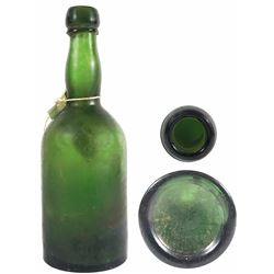 Green-glass ale bottle from the S.S. Republic (1865).