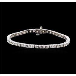 4.68 ctw Diamond Tennis Bracelet - 14KT White Gold