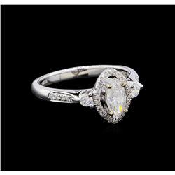 0.72 ctw Diamond Ring - 18KT White Gold