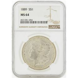 1889 MS64 NGC Morgan Silver Dollar
