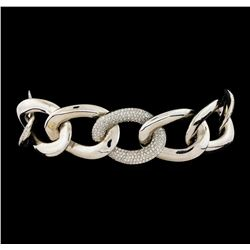 3.54 ctw Diamond Bracelet - 14KT White Gold