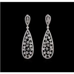 2.07 ctw Diamond Earrings - 14KT White Gold