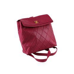 Chanel Fuchsia Leather Knapsack