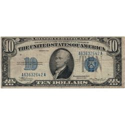 1934 $10 Silver Certificate Currency