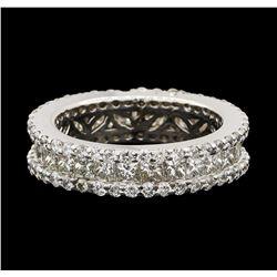3.50 ctw Diamond Ring - 18KT White Gold