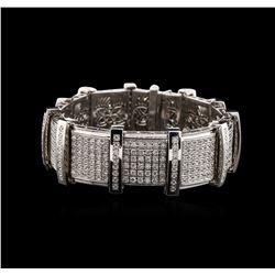 14KT White Gold 5.95 ctw Diamond Bracelet
