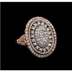 14KT Rose Gold 1.43 ctw Diamond Ring