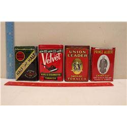 Lot Of Old Pocket Tobacco Tins (4)