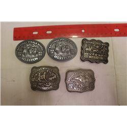 Lot Of Ladies Hesston Rodeo Belt Buckles (5)
