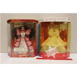 Happy Holiday Special Edition Barbie Dolls (2)(1989,1997)(NIB)
