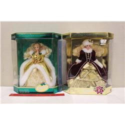 Happy Holiday Special Edition Barbie Dolls (2)(1994)(NIB)