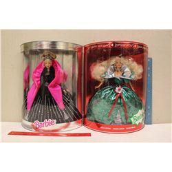 Happy Holiday Special Edition Barbie Dolls (2)(1995,1998)(NIB)